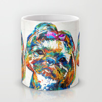 Colorful Shih Tzu Dog Art By Sharon Cummings Mug by Sharon Cummings