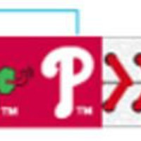 Gamewear MLB Leather Wrist Band - Philly Phanatic Classic