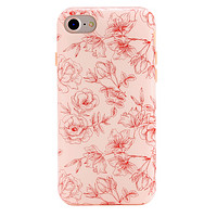 Nude Red Chrome Floral iPhone Case