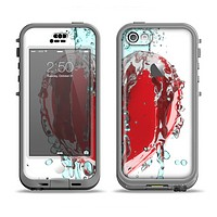 The Drenched 3D Icon Apple iPhone 5c LifeProof Nuud Case Skin Set