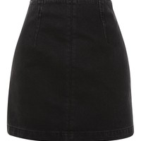 MOTO Denim A-Line Skirt | Topshop