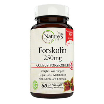 Nature's Potent - Forskolin 250 Mg, Standardized to 20% Pure Extract