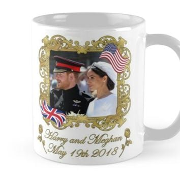 'Prince Harry and Meghan Markle Royal Wedding' Mug by ValentinaHramov