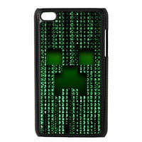 MineCraft at Matrix world design apple ipod 4 4g touch case cover
