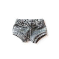 Organic Baby Shorties in Grunge Slate