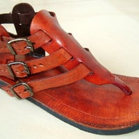 Gladiator Inspired Leather Sandals  Handmade by IncredibleIndia