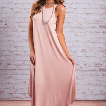 Boldly Go Maxi Dress, Dusty Pink