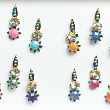 Bindi Self Adhesive Belly Dance Indian Dots Body Art And Bridal Jewelry Bollywood