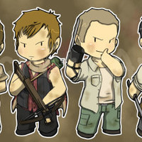 "3"" (AMC) The Walking Dead Stickers"