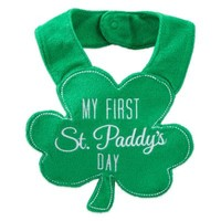 "Carter's® ""My First St. Paddy's Day"" Bib in Green"