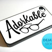 Adorkable Glasses iPhone 4 / 4S Case