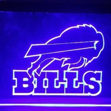 B-172 Buffalo Bills beer bar pub club 3d signs LED Neon Light Sign man cave vintage home decor