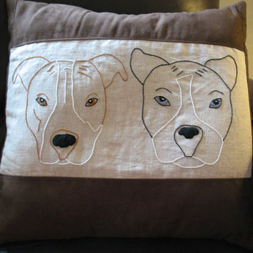 Large Custom Pet Pillow, different types of dogs, pitbull dog images, pitbull husky mix, pitbull red nose