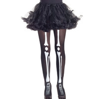 Glow in the Dark Girls Skeleton Tights