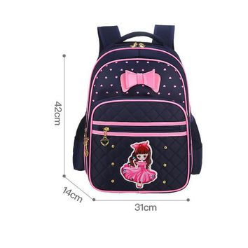 School Backpack NEW school bags for girls nylon waterproof backpack cute cartoon backpacks little princess school bag 1-6 grade mochila AT_48_3