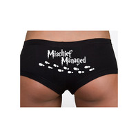 Harry Potter Inspired Clothing - Intimates - Mischief Managed Cotton Spandex Shortie - Ladies