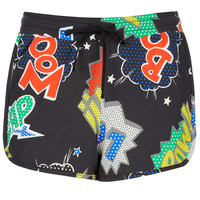 Pow Print Runner Shorts - Shorts - Clothing - Topshop