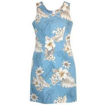 sky hawaiian tank dress