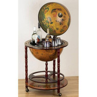 Evelots Wooden Eucalyptus Globe Bar,Classic Design, Drink Holder & Glass Storage