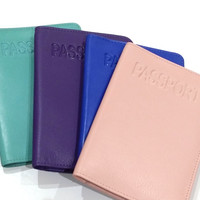 ILI Leather Passport Holder