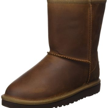 UGG Girls Classic Short Leather Boot