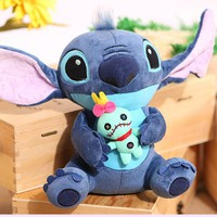 Big Size Stitch Lilo Plush Toys Lilo and Stitch Stich Plush Toys Monchhichi Scrump Soft Stuffed Animals Doll Kids Toys Gift
