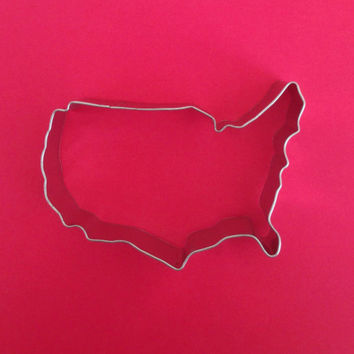 USA Map Cookie Cutter / Tin / 4 in