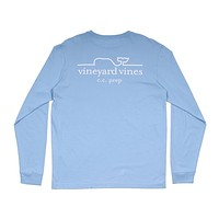 Whale Line C.C. Prep Long Sleeve Tee in Jake Blue by Vineyard Vines