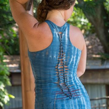 Yoga Tank with Woven Back
