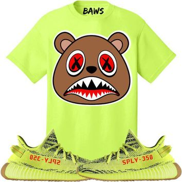 CINNAMON BAWS Sneaker Tees Shirt - Yeezy 350 Boost Semi Frozen Yellow
