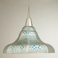 Oversized Punched Metal Pendant Lamp - World Market