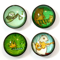 Musical Animals Magnet Set