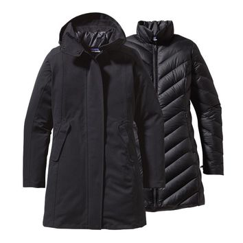 Patagonia Women's Tres Waterproof Down Parka | Black