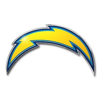 Licensed Official New ProMark NFL San Diego Chargers Aluminum Color Car Truck Emblem Sticker Decal