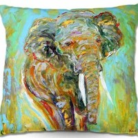 Decorative Outdoor Patio Couch Throw Pillows from DiaNoche Designs BBQ Garden Outdoor Ideas by Karen Tarlton Home Unique Elephant
