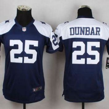 ONETOW Youth Nike Cowboys #25 Lance Dunbar Navy Blue Thanksgiving Throwback NFL Elite Jersey