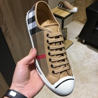 BURBERRY Men Casual Shoes Boots fashionable leather Fashion Casual Sneakers Sport Shoes