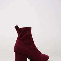 Chic City Chunky Faux Suede Booties