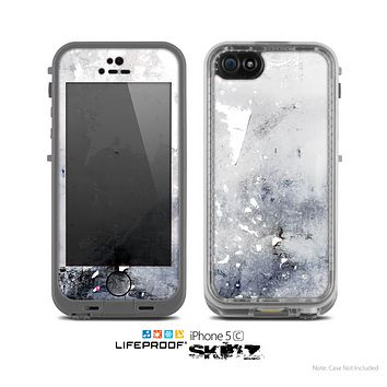 The Grunge White & Gray Texture Skin for the Apple iPhone 5c LifeProof Case