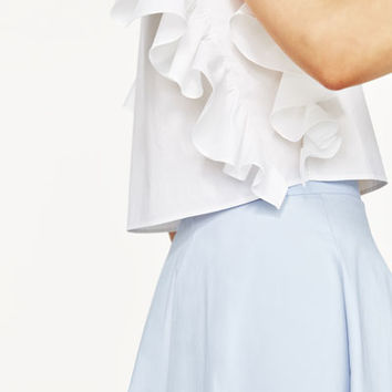 FRILLED SLEEVE TOPDETAILS