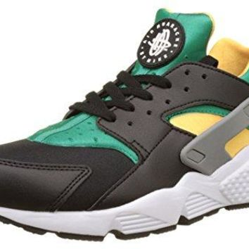 Nike Men's Air Huarache Exclusive Flint Spin Fabric Trainer Shoes (9, Black/White/Emerald/Resin)