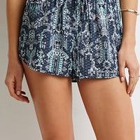 Tribal Print Drawstring Shorts