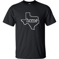 Home & State (Texas or other) T-Shirt for Men, Women or Kids Tshirt or Onesuit