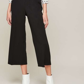 Black Cropped Wide Leg Trousers | Missselfridge
