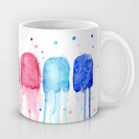 Retro Rainbow Mug by Olechka