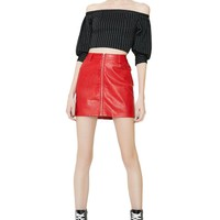 Final Say Zip-Up Skirt