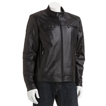 Vintage Leather Leather Racing Jacket - Big & Tall, Size: