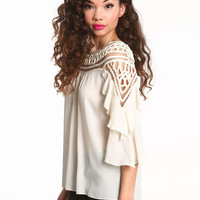 DREAM CATCHER TIERED BLOUSE