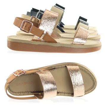 Upraise10 Foam Laired Flat form Open Toe Sandal, Ultra Light Platform Shoes