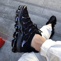 Nike Air Vapormax Plus Triple White Running Sneakers Sport Shoes-36
